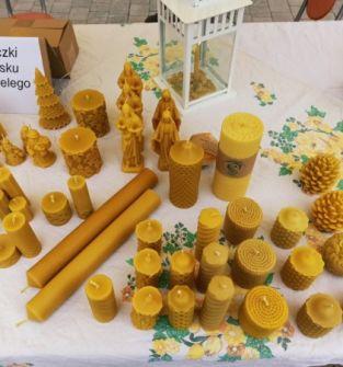 Świeczki z wosku pszczelego