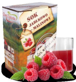 Sok jabłkowo-malinowy 3L, 5L